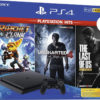 Sony PlayStation 4 1 TB Slim Console Nera + Uncharted 4 + Ratchet & Clank + The Last of Us